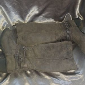 Grey SO boots
